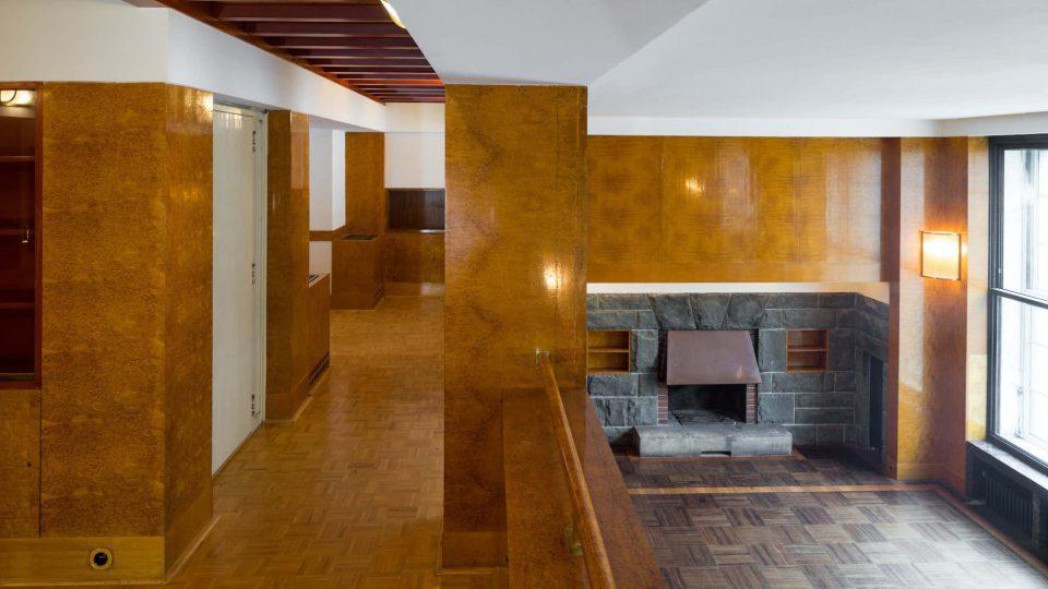 Loosův interiér Semlerovy rezidence v Plzni