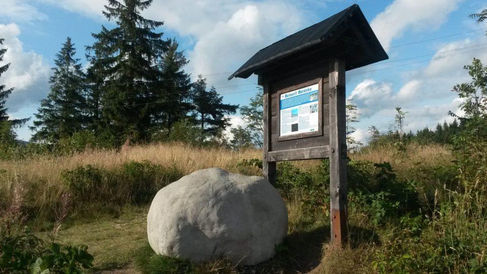 Model meteoritu Morávka na beskydském Grúni