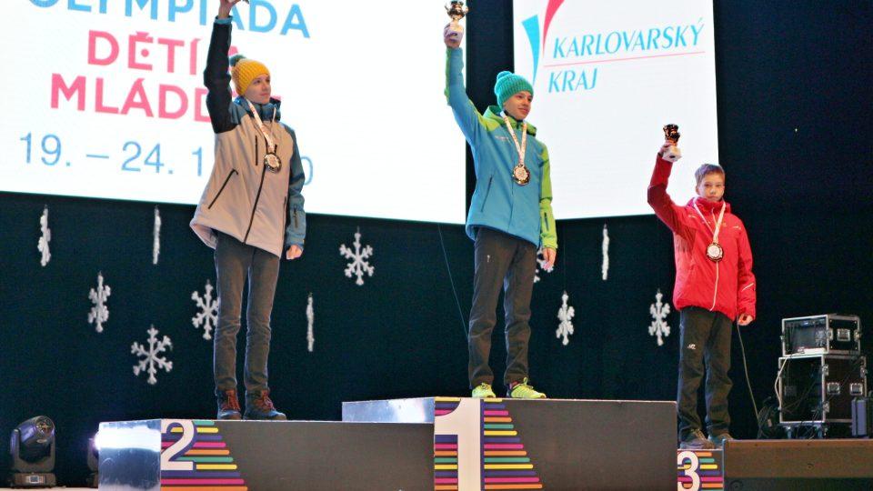 Zlatý Antonín Svoboda na 9. ročníku Zimní olympiády dětí a mládeže České republiky