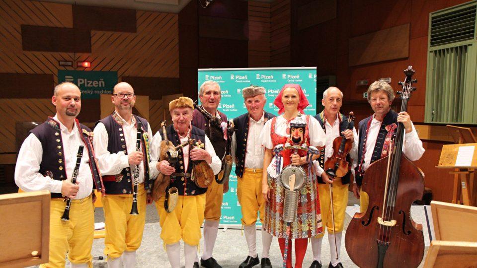 Konrádyho dudácká muzika ve studiu Českého rozhlasu Plzeň, 6. 9. 2019