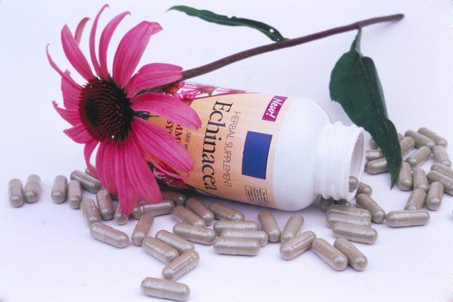 Přípravky z echinacey koupíte v různých formách. Tato bylina patří mezi nejčastěji nabízené prostředky proti nachlazení